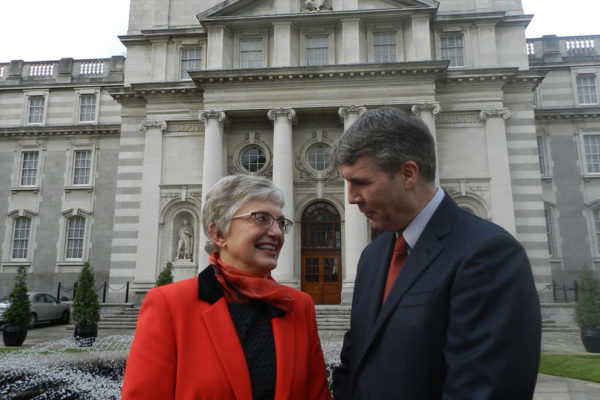 Minister Zappone and Niall Muldoon, Ombudsman for Children