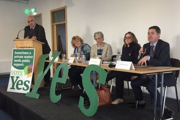 Together for Yes public meeting with Noel Whelan chairing