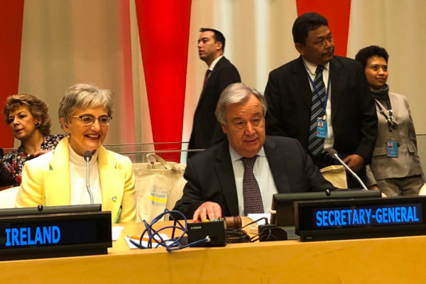 Minister Zappone with UN Secretary-General António Guterres